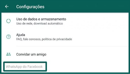 WhatsApp do Facebook