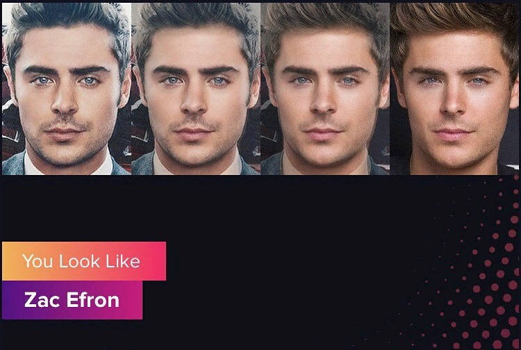 Gradient App You look like Zac Efron